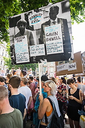 London, June 17th 2017. Several thousand protesters demonstrate against the Conservative's intended alliance with the Democratic Unionist Party (DUP) in Whitehall, London. The proposed pact will enable the Tories to maintain a small level of dominance in the House of commons after their majority was wiped out in the June 8th general election.