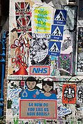 NHS staff virus street art and graffiti in Shoreditch as lockdown continues and people observe the stay at home message in the capital on 12th May 2020 in London, England, United Kingdom. Coronavirus or Covid-19 is a new respiratory illness that has not previously been seen in humans. While much or Europe has been placed into lockdown, the UK government has now announced a slight relaxation of the stringent rules as part of their long term strategy, and in particular social distancing.