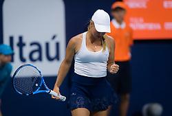 March 22, 2019 - Miami, FLORIDA, USA - Yulia Putintseva of Kazhakstan in action during the second-round at the 2019 Miami Open WTA Premier Mandatory tennis tournament (Credit Image: © AFP7 via ZUMA Wire)
