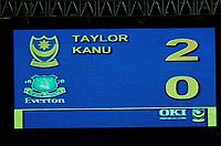 Photo: Gareth Davies.<br />Portsmouth v Everton. The Barclays Premiership. 09/12/2006.<br />Final score Portsmouth 2 Everton 0.