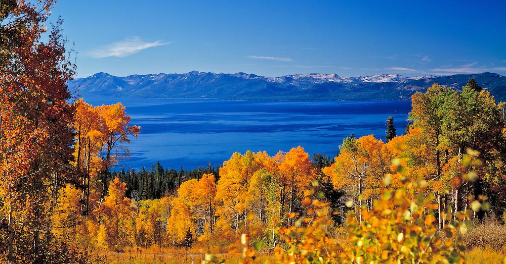 Lake Tahoe Scenic Fall Colors Lake Tahoe
