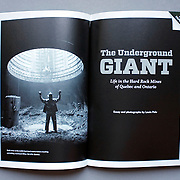 """""""The Underground Giant"""" special feature for The Price of Paperless issue in Virginia Quarterly Review (VQR)  including written essay by Louie Palu. (Credit Image: © Louie Palu/ZUMA Press)"""