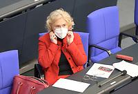 DEU, Deutschland, Germany, Berlin, 06.05.2021: Bundesjustizministerin Christine Lambrecht (SPD) in der Plenarsitzung im Deutschen Bundestag.