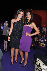 Left to right, ELLA KRASNER and ROSARIO DAWSON at a party hosted by Roberto Cavalli to celebrate his new Boutique's opening at 22 Sloane Street, London followed by a party at Battersea Power Station, London SW8 on 17th September 2011.