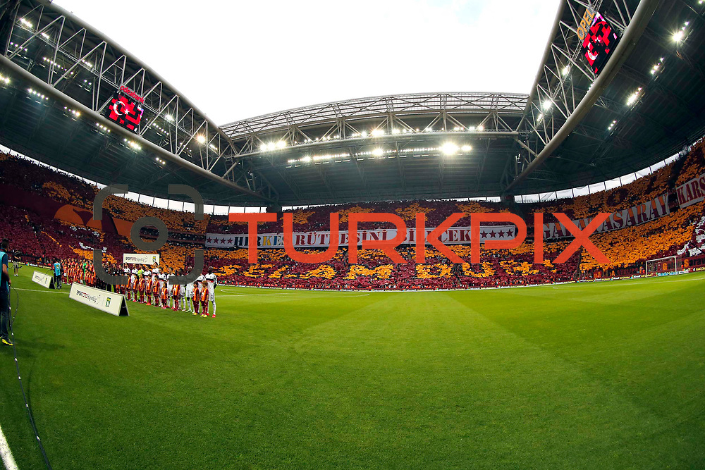 Galatasaray's and Besiktas's players during their Turkish Super League derby match Galatasaray between Besiktas at the AliSamiYen Spor Kompleksi TT Arena at Seyrantepe in Istanbul Turkey on Sunday, 24 May 2015. Photo by Aykut AKICI/TURKPIX