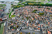 Nederland, Zeeland, Zeeuws-Vlaanderen, 19-10-2014; centrum Terneuzen met gracht.<br /> Downtown Terneuzen with canal.<br /> luchtfoto (toeslag op standard tarieven);<br /> aerial photo (additional fee required);<br /> copyright foto/photo Siebe Swart