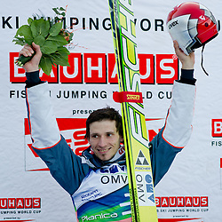 Winner Robert Kranjec of Slovenia during Flying Hill Individual at 2nd day of FIS Ski Jumping World Cup Finals Planica 2012, on March 16, 2012, Planica, Slovenia. (Photo by Matic Klansek Velej / Sportida.com)