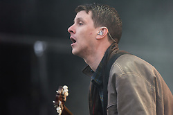 © Licensed to London News Pictures. 30/08/2015. Reading, UK. Jamie T performing at Reading Festival 2015, Day 3 Sunday.  Jamie T is Jamie Alexander Treays.  Photo credit: Richard Isaac/LNP
