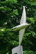 Statue of a bird at the National Opera Gardens, Riga, Latvia
