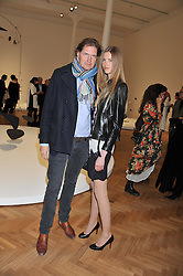 MICHAEL HYDE and ISABEL VOSPER at a Private View of 'Calder - After The War' at Pace London, Burlington Gardens, London on 18th April 2013.
