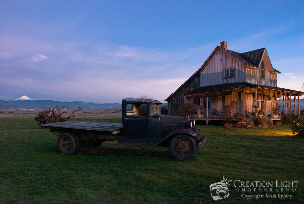 The Wood House, was built in 1870 by Civil War veteran Martin Sylvester Wood.  The house stands in Eagle Point, Oregon  along Hwy 62 which leads from Medford to Crater Lake National Park. The house is one of the oldest in southern Oregon and is preserved by the Wood House Preservation Group....In the distance is Mount McLoughlin, a volcano in the Cascade Mountain Range.