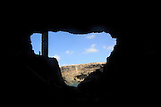 View out of sea cave entrance at Ajuy, Fuerteventura, Canary Islands, Spain