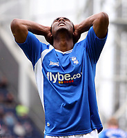 Photo: Paul Thomas.<br /> Preston North End v Birmingham City. Coca Cola Championship. 06/05/2007.<br /> <br /> Cameron Jerome of Birmingham can't believe his luck.