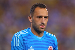 September 11, 2018 - East Rutherford, NJ, U.S. - EAST RUTHERFORD, NJ - SEPTEMBER 11:  Colombia goalkeeper David Ospina (1) during the second half of the International Friendly Soccer game between Argentina and Colombia on September 11, 2018 at MetLife Stadium in East Rutherford, NJ.   (Photo by Rich Graessle/Icon Sportswire) (Credit Image: © Rich Graessle/Icon SMI via ZUMA Press)
