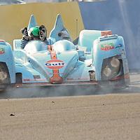 #32 Zytek 07S/2 after impact on pit straight - Barazi Epsilon (Drivers - Michael Vergers, Juan Barazi and Karim Ojjea) LMP2, Le Mans 24Hr 2007