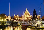 Parliament Bulding at night, Victoria, British Columbia, Canada