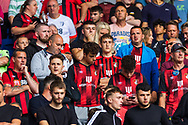 Bournemouth fans are in good spirits before the EFL Sky Bet Championship match between Cardiff City and Bournemouth at the Cardiff City Stadium, Cardiff, Wales on 18 September 2021.