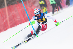 Luca Aerni (SUI) during 1st run of Men's Slalom race of FIS Alpine Ski World Cup 57th Vitranc Cup 2018, on March 4, 2018 in Kranjska Gora, Slovenia. Photo by Urban Meglič / Sportida