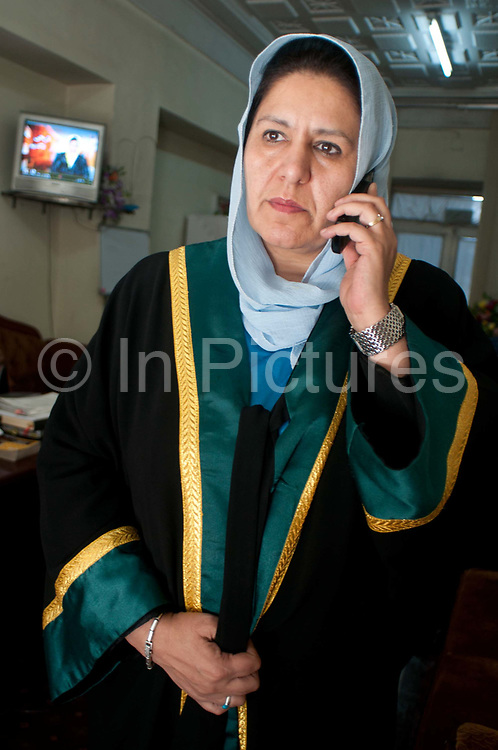 Homa Ali Zoy, Director of the Family and children court. Kabul, Afghanistan.