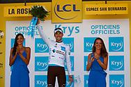 Podium, hotess, miss, Pierre Latour (FRA - AG2R - La Mondiale) during the 105th Tour de France 2018, Stage 11, Alberville - La Rosiere Espace Bernardo (108,5 km) on July 18th, 2018 - Photo Luca Bettini / BettiniPhoto / ProSportsImages / DPPI