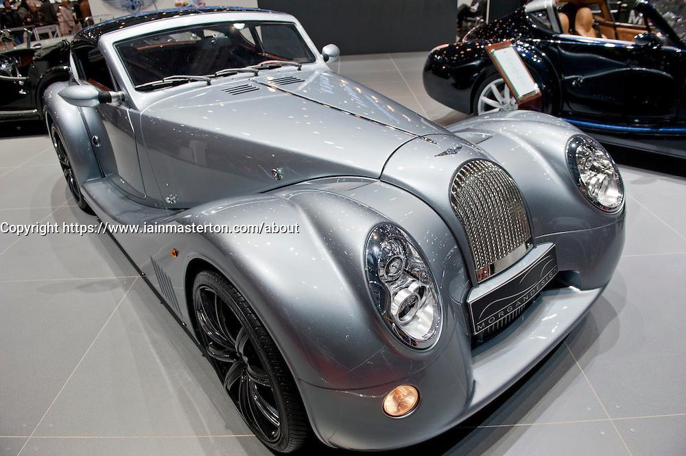 Morgan Aero super sports car on display at Geneva Motor Show 2011 Switzerland