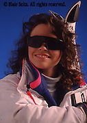 Outdoor recreation, Skiing, ski slopes, downhill skiing, Young Female Skier Portrait