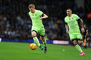 Kevin De Bruyne of Manchester city (l) in action.Barclays Premier league match, Aston Villa v Manchester city at Villa Park in Birmingham, Midlands  on Sunday 8th November 2015.<br /> pic by  Andrew Orchard, Andrew Orchard sports photography.