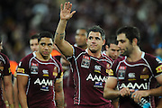May 25th 2011: Corey Parker of the Maroons thanks fans after game 1 of the 2011 State of Origin series at Suncorp Stadium in Brisbane, Australia on May 25, 2011. Photo by Matt Roberts/mattrIMAGES.com.au / QRL