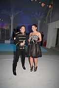 JIMMY LAHOUD; ADRIANA SMENTEK, Grey Goose Winter Ball to benefit the Elton John Aids Foundation. Battersea Power Station. London. 10 November 2012.