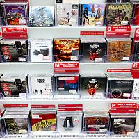 Nederland, Amsterdam , 25 februari 2011..Cd op de audio afdeling van Mediamarkt..Ook hier is een enorme daling in de verkoop van cd's te zien als gevolg van het downloaden van muziek..On account of the download of music, sales of CDs fell.