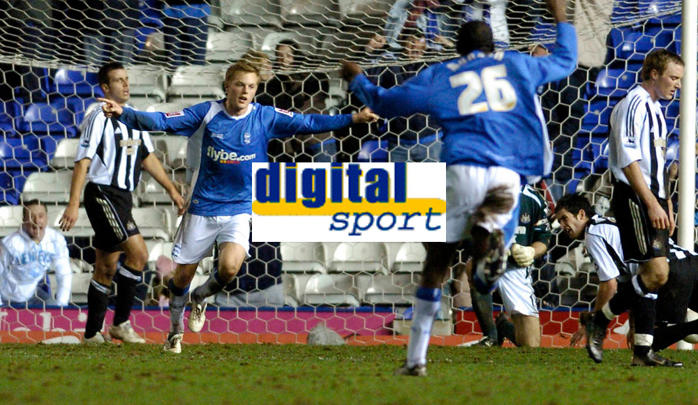 Photo: Leigh Quinnell.<br /> Birmingham City v Newcastle United. The FA Cup. 06/01/2007. Birminghams Sebastian Larsson celebrates his late goal for Birmingham to earn them a replay at Newcastle.