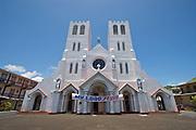 Christian church in Apia, Western Samoa.
