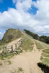 Back Tor from the Great Ridge walking from Mam Tor towards  Losehill near Castleton in the Hope Valley <br /> <br />  19 April  2015<br />  Image © Paul David Drabble <br />  www.pauldaviddrabble.co.uk