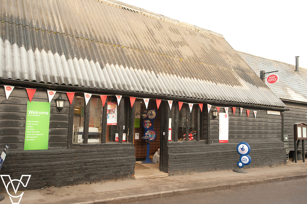 Pictured is the outside of Barley Post Office<br /> <br /> Barley Post Office, Church End, Royston, Hertfordshire.<br /> Date: January 23, 2015