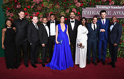 The cast of Hamilton attending the Evening Standard Theatre Awards 2018 at the Theatre Royal, Drury Lane in Covent Garden, London. Restrictions: Editorial Use Only. Photo credit should read: Doug Peters/EMPICS