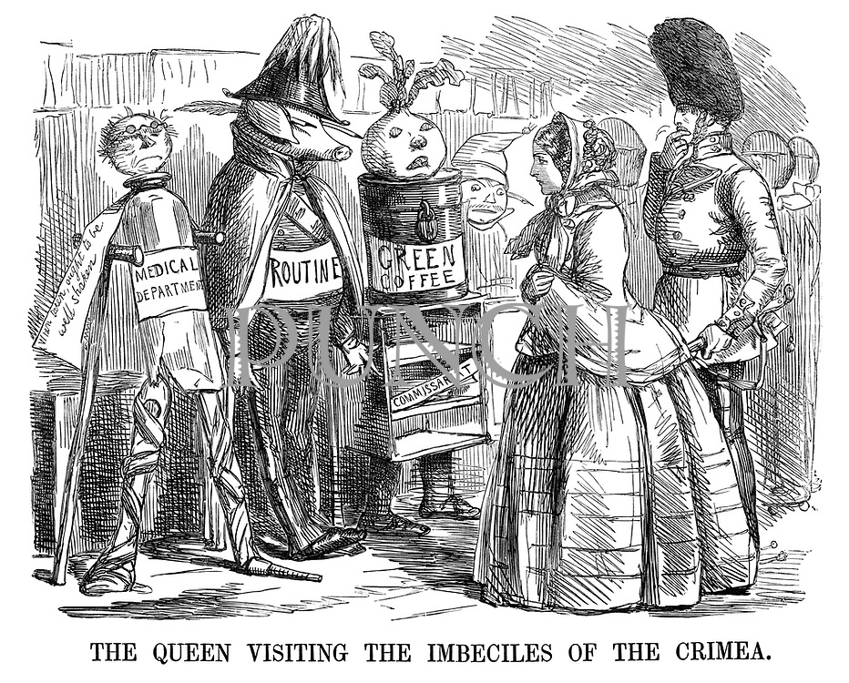 The Queen Visiting the Imbeciles of the Crimea.