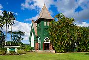 Wai'oli Hui'ia Church, Hanalei, Island of Kauai, Hawaii USA