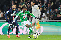 Allan SAINT MAXIMIN - 25.01.2015 - Saint Etienne / PSG - 22eme journee de Ligue1<br /> Photo : Jean Paul Thomas / Icon Sport