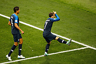 Antoine Griezmann of France celebrates after his goal during the 2018 FIFA World Cup Russia, final football match between France and Croatia on July 15, 2018 at Luzhniki Stadium in Moscow, Russia - Photo Tarso Sarraf / FramePhoto / ProSportsImages / DPPI