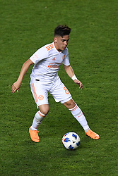 May 5, 2018 - Bridgeview, IL, U.S. - BRIDGEVIEW, IL - MAY 05: Atlanta United FC midfielder Ezequiel Barco (8) controls the ball during a game between Atlanta United FC and the Chicago Fire on May 5, 2018, at Toyota Park, in Bridgeview, IL. (Photo by Patrick Gorski/Icon Sportswire) (Credit Image: © Patrick Gorski/Icon SMI via ZUMA Press)