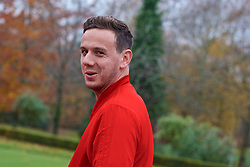 CARDIFF, WALES - Friday, November 16, 2018: Wales' goalkeeper Daniel Ward during a pre-match walk at the Vale Resort ahead of the UEFA Nations League Group Stage League B Group 4 match between Wales and Denmark. (Pic by Ethan Ampadu/Propaganda)