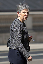 © Licensed to London News Pictures. 26/04/2021. London, UK. Metropolitan Police Commissioner Cressida Dick walks in Westminster . Prime Minster Boris Johnson has come under criticism from his former chief advisor Dominic Cummings. Photo credit: George Cracknell Wright/LNP