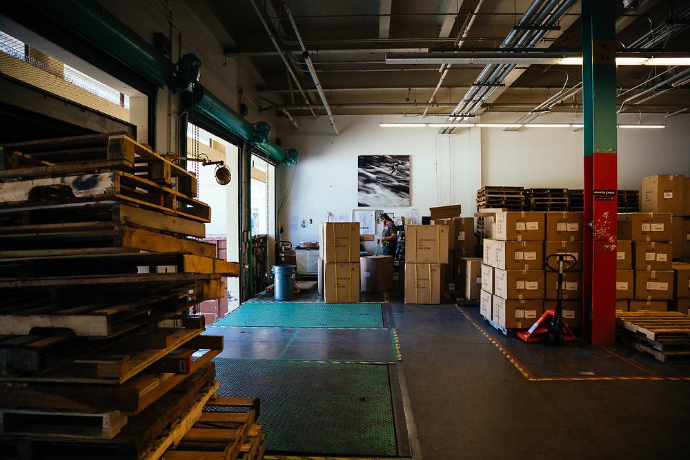 Shipping and receiving at Santa Cruz bicycles.