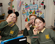 12/11/2018 Repro free: Galway Science and Technology Festival, the largest science event in Ireland, runs from 11-25 November featuring exciting talks, workshops and special events. Full programme at GalwayScience.ie. <br /> Lilya Ní Bholguir,  Brian O'Maille ands Einín Ní Lochlainn from Scoil Fhursa who learned all about rockets and force and wind power . Photo:Andrew Downes, Xposure.