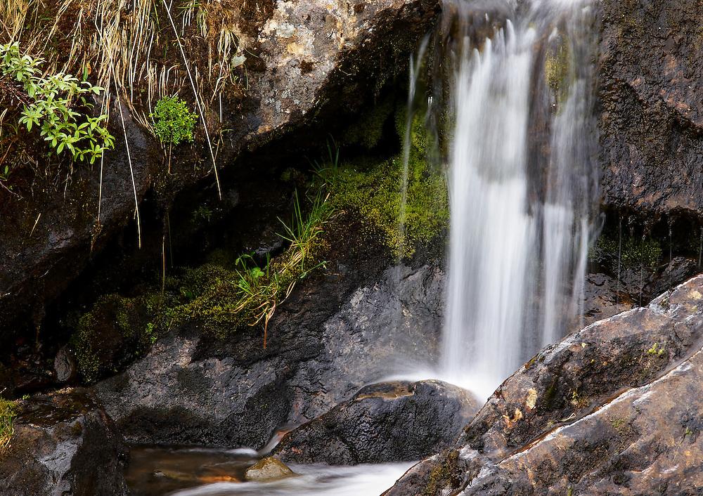 Norway - Detail of waterfall in Sør-Tverrfjord