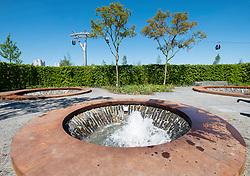 Promenade Aquatica water gardens at IGA 2017 International Garden Festival (International Garten Ausstellung) in Berlin, Germany