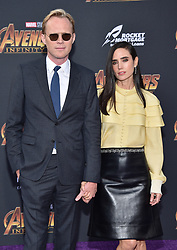 Paul Bettany and Jennifer Connelly attend the World Premiere of Avengers: Infinity War on April 23, 2018 in Los Angeles, CA, USA. Photo by Lionel Hahn/ABACAPRESS.COM