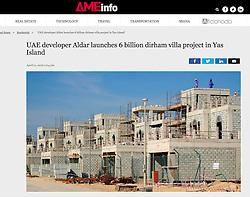AMEinfo website, UAE; villa construction in Duba