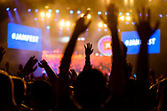 SAN ANTONIO, TX - April 1: Maroon 5 perform during the 2018 NCAA Men's Final Four takes place at the Alamodome on April 1, 2018 in San Antonio, Texas. (Photo by Brett Wilhelm/NCAA Photos via Getty Images)