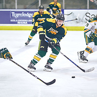3rd year defence man, Tyler King (7)  of the Regina Cougars during the Men's Hockey Home Game on Sat Jan 26 at Co-operators Center. Credit: Arthur Ward/Arthur Images